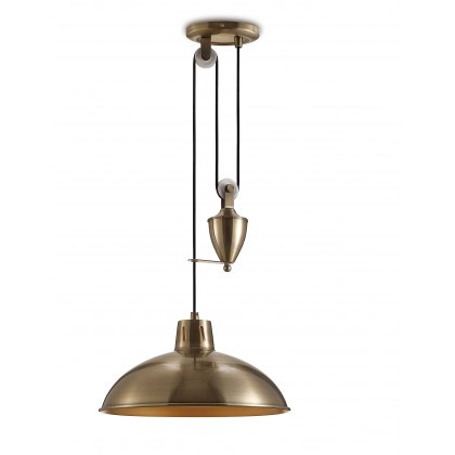 Retro Rise & Fall antique brass pendant