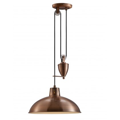 Retro Rise & Fall antique copper pendant