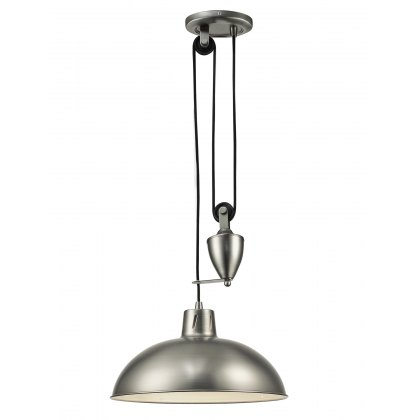 Retro Rise & Fall antique nickel pendant