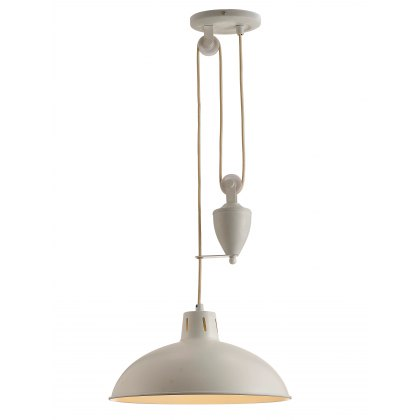 Retro Rise & Fall white pendant