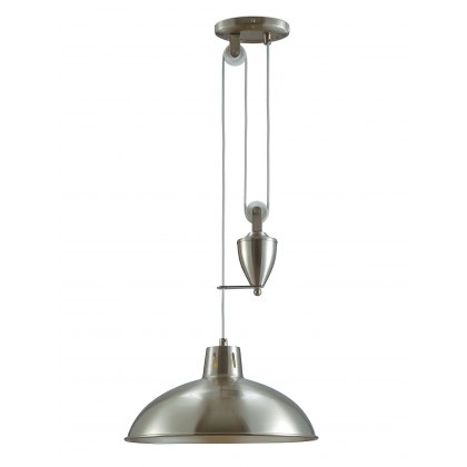 Retro Rise & Fall satin nickel pendant