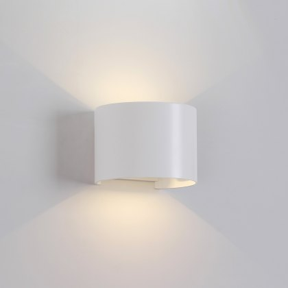 Davo Coastal Bowed white wall light