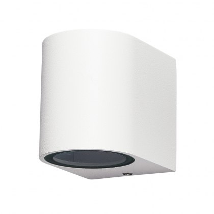 Zamora Coastal Single Round white wall light