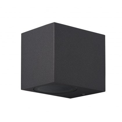 Zamora Coastal Single Square anthricite wall light