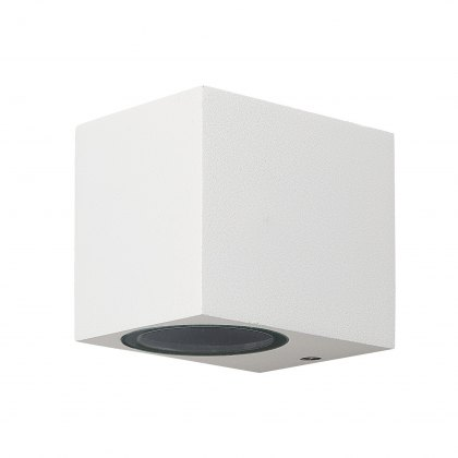 Zamora Coastal Single Square white wall light