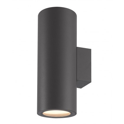 Volcan Coastal Twin Round graphite wall light