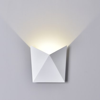 Tria Coastal wash white wall light