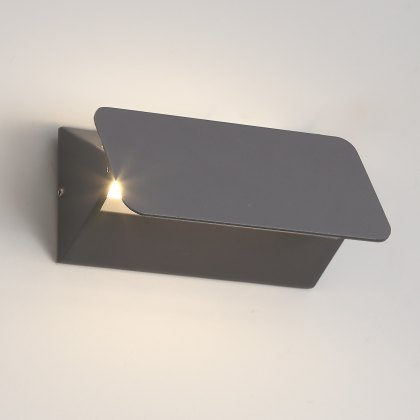 Flip coastal wash anthracite wall light