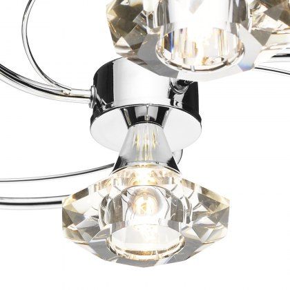 Kendal 4 chrome semi flush pendant light