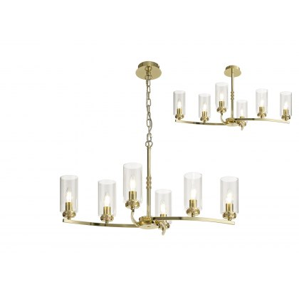 Domecelle Gold 6 Light Pendant Ceiling Light