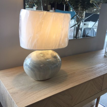 Marbled table lamp