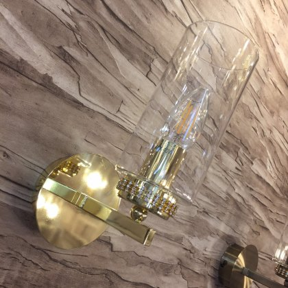 Domecelle Gold Single Wall Light