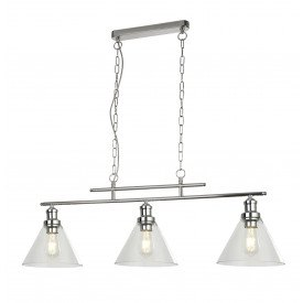Pyramid Bar chrome pendant