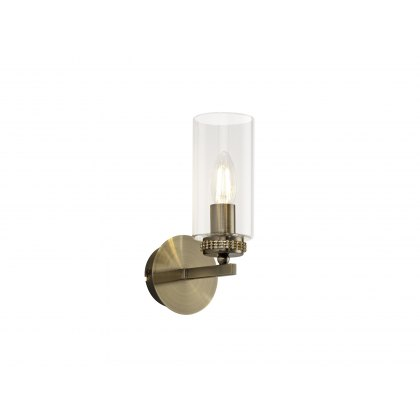 Domecelle Antique Brass Single Wall Light