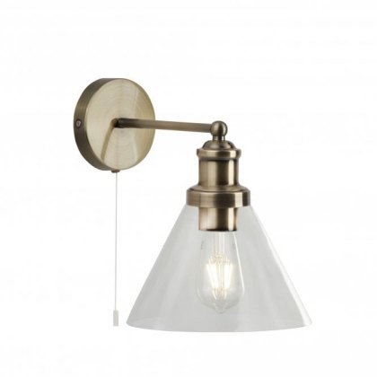 Pyramid Wall antique brass light