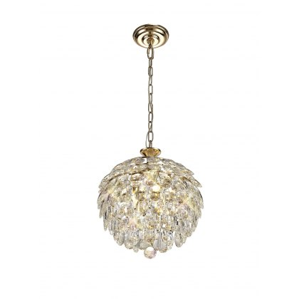 Coto french gold crystal small pendant light