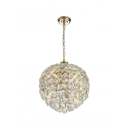 Coto french gold crystal medium pendant light