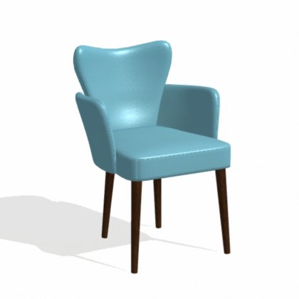 Fama Fred leather dining chair