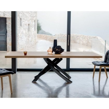 Artistico Wood fixed dining table