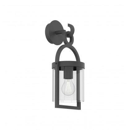 Mahon Coastal Outdoor Anthtacite Small Lantern Wall Light