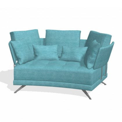 Fama Pacific 2 seater curved V12 sofa