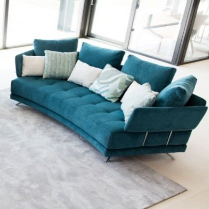 Fama Pacific 3 seater curved Y sofa