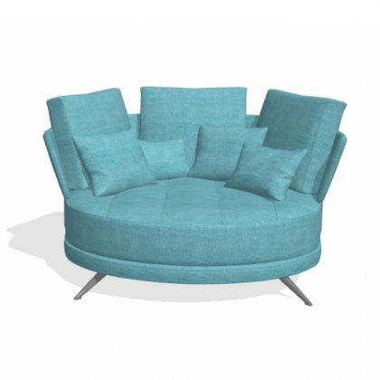 Fama Pacific 2 seater curved X sofa