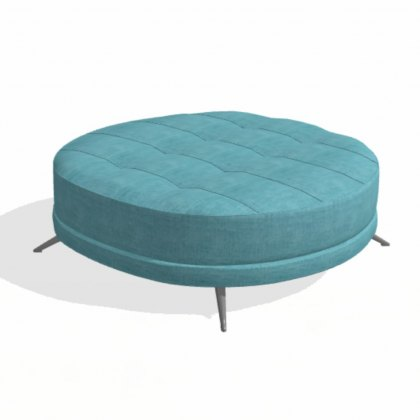 Fama Pacific round PX footstool