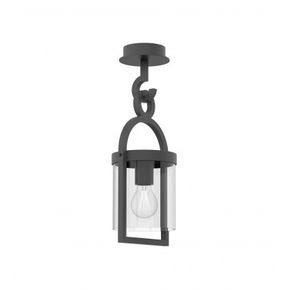 Mahon Coastal Outdoor Anthtacite Small Lantern Pendant Light