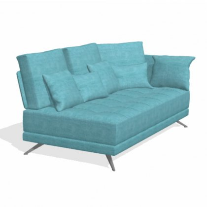 Fama Pacific 3 seater BL with 1 arm sofa module