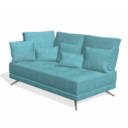 Fama Pacific 2 seater CL with 1 arm sofa module
