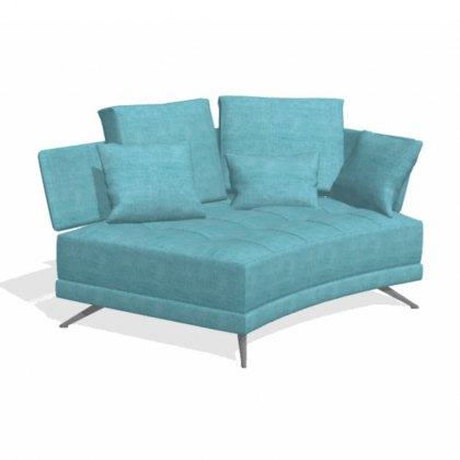 Fama Pacific 2 seater curved VL with 1 arm sofa module