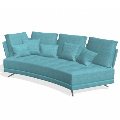 Fama Pacific 3 seater curved YL with 1 arm sofa module
