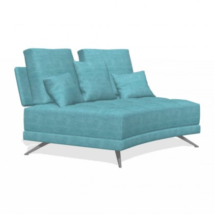 Fama Pacific 2 seater curved V armless sofa module