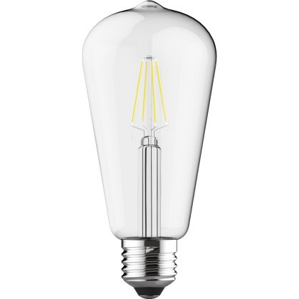 E27 LED Rustika 6.5w 2700k 710lm dimmable clear lamp