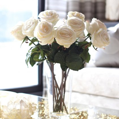 White large rose