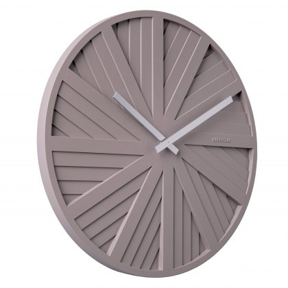 Sliders Wall clock warm grey