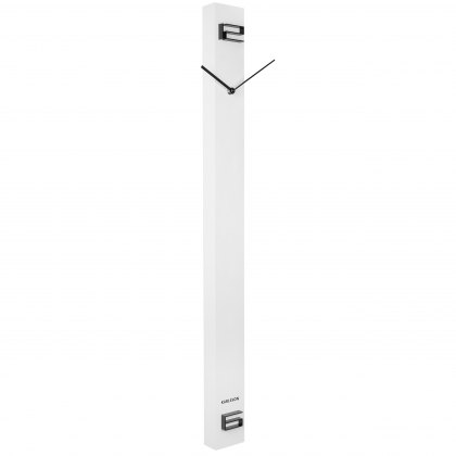 Discreet Long white wall clock
