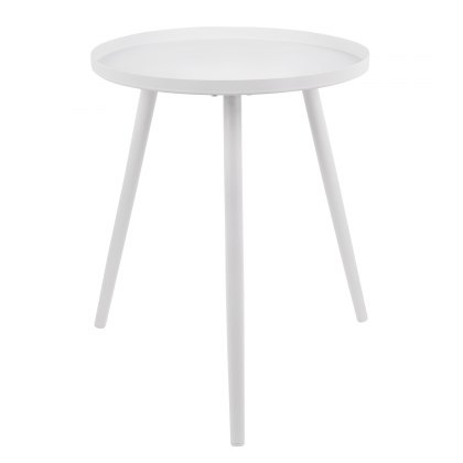 Small Elle table white