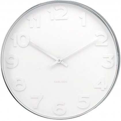 Mr White Numbers 51cm wall clock