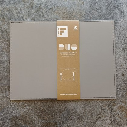 Reversible placemat rectangle grey/black