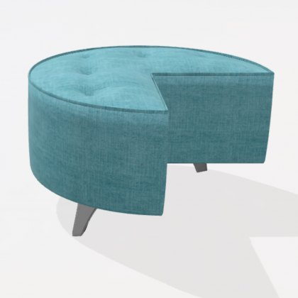 Fama Arianne Love Medium Round QM Footstool Module