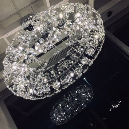 Barcelona 26 statement chrome crystal pendant