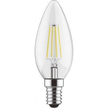 E14 LED Candle 5.5w 600lm 4000k dimmable clear lamp