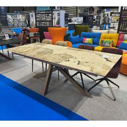 Madrid extending dekton dining table