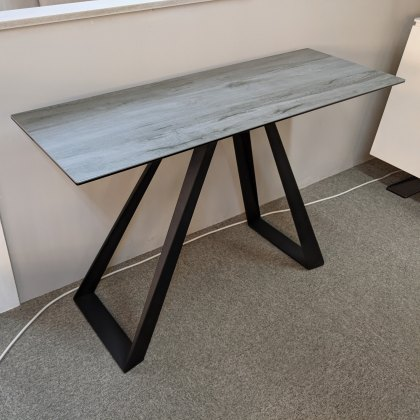 Athens grey wood ceramic console table
