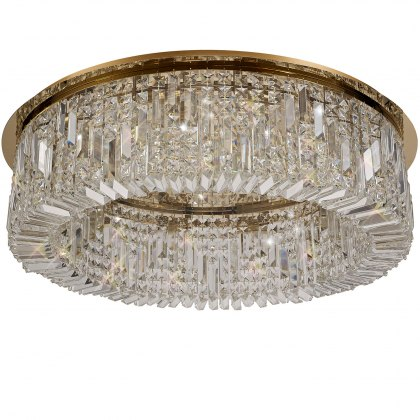 Zahara 12 french gold crystal flush light