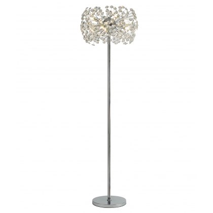 Barcelona chrome crystal floor light