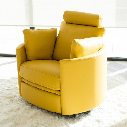 Fama Moon fabric manual recliner armchair