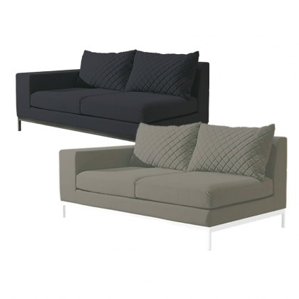 Arctic outdoor garden two seater left arm